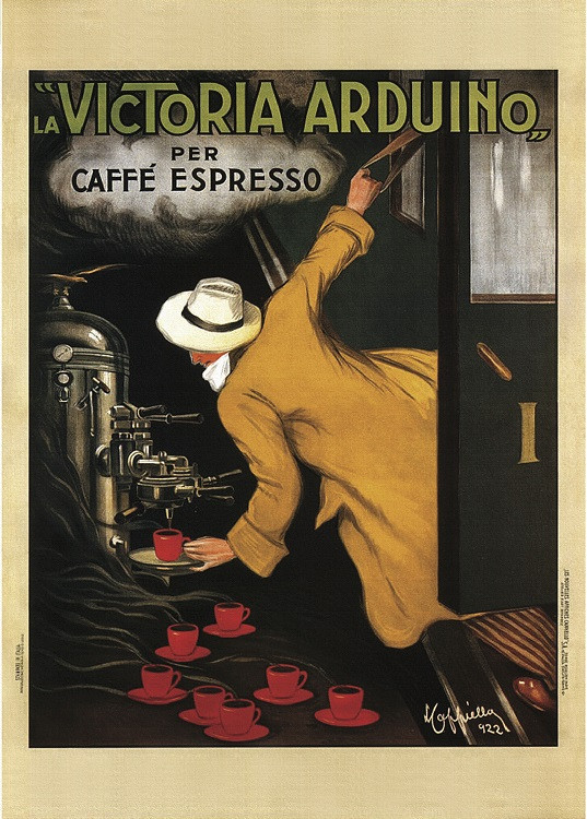 vintage poster coffee