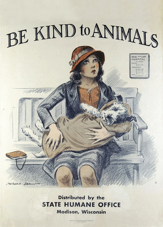 vintage poster animals