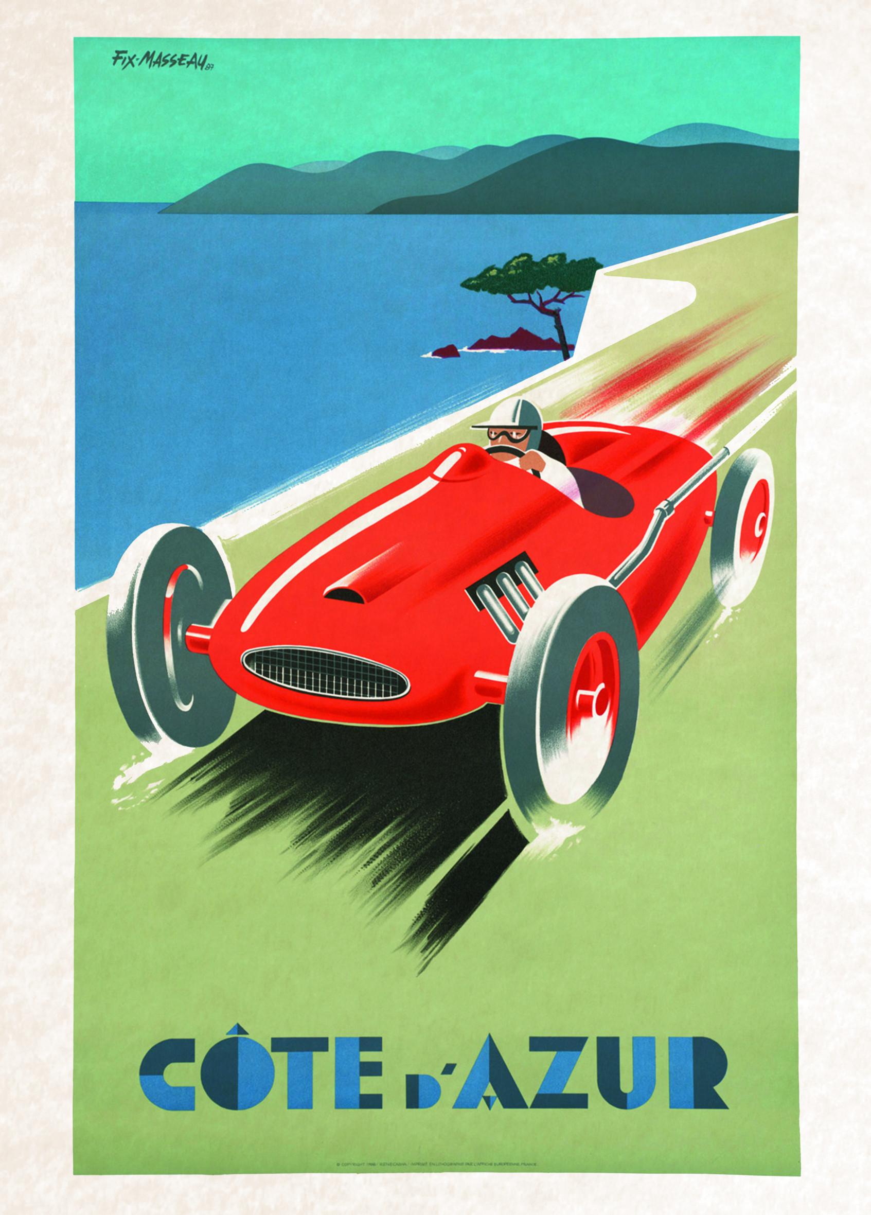 vintage poster car