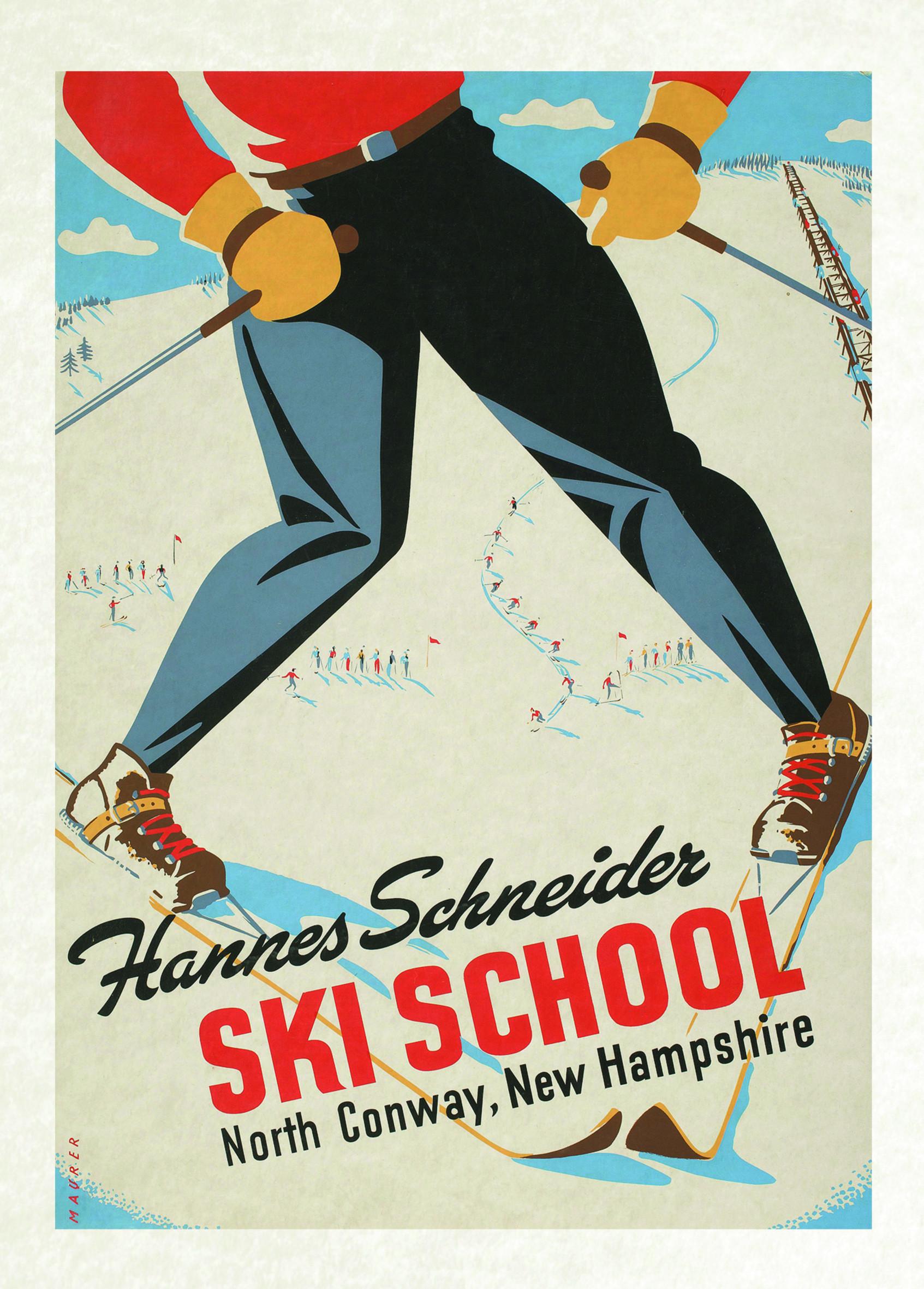 vintage poster skiing