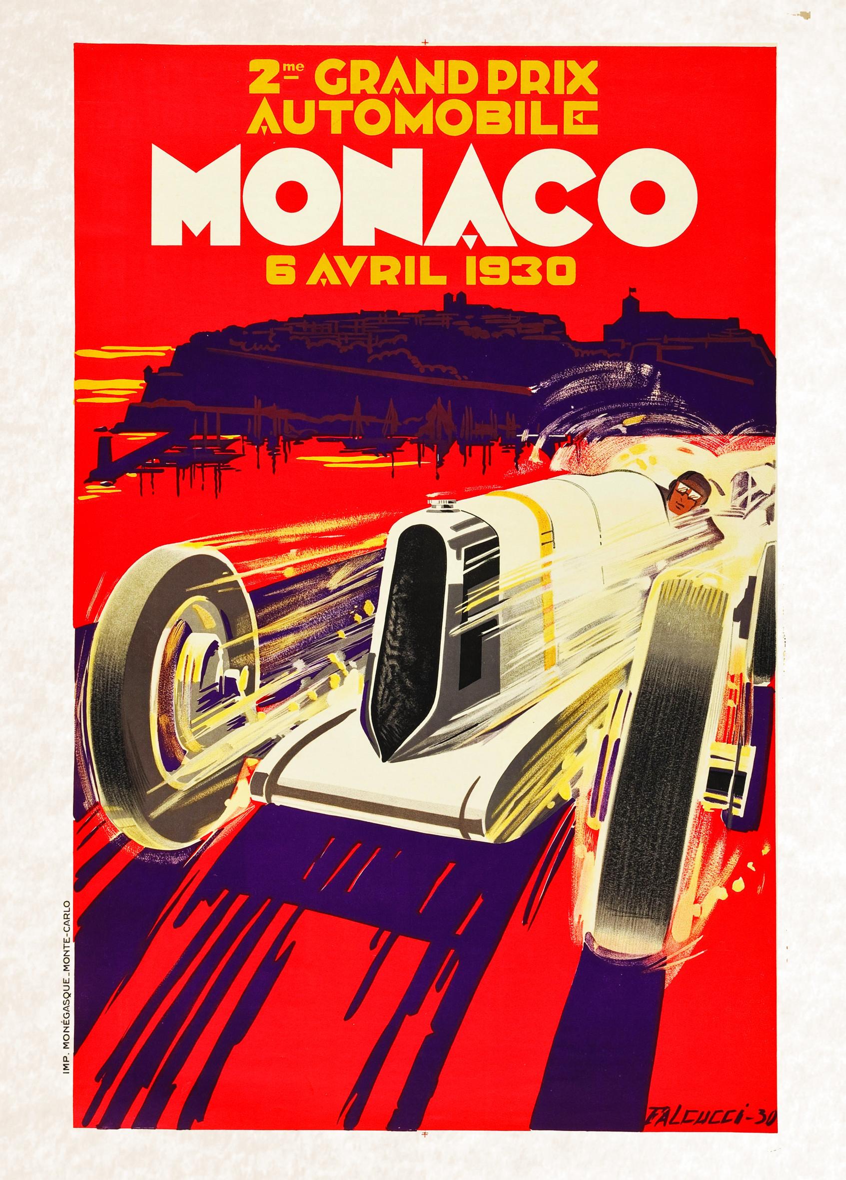 vintage poster racing