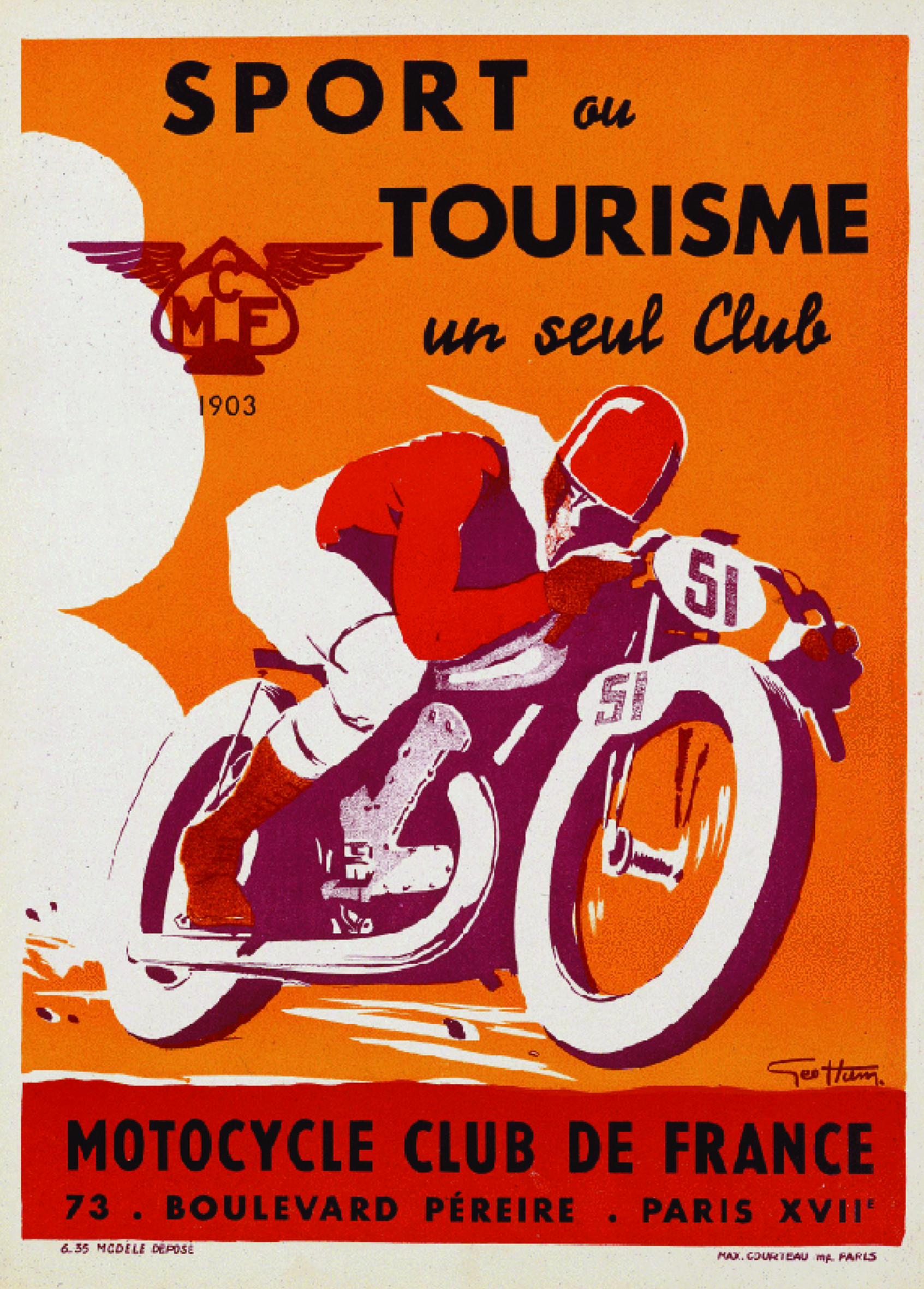 vintage poster moto