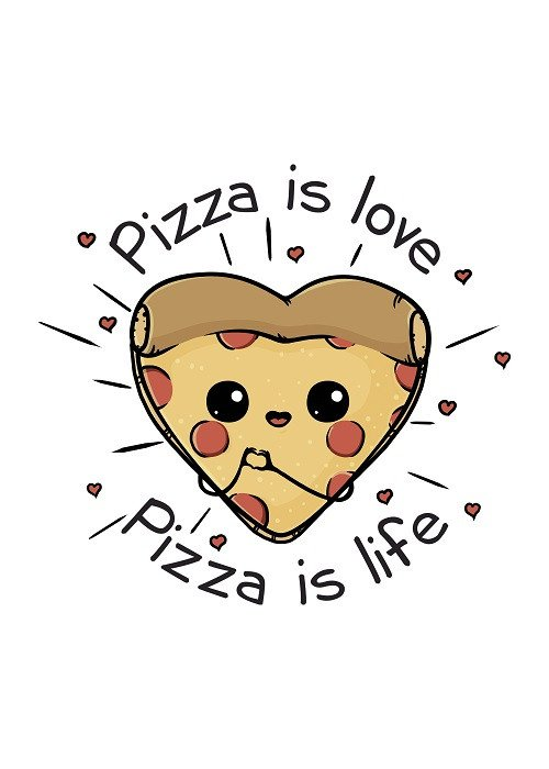 love pizza poster