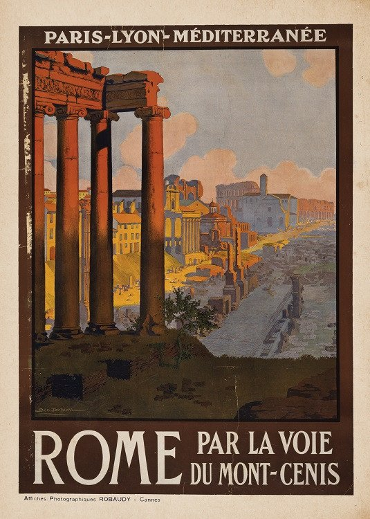 vintage travel poster rome