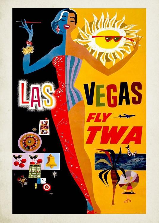vintage travel poster las vegas