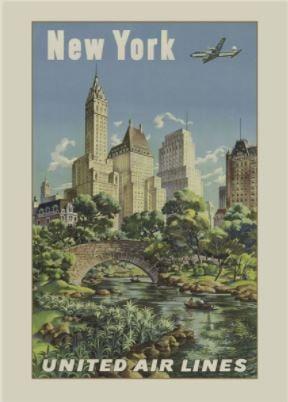 Vintage NY Travel Poster