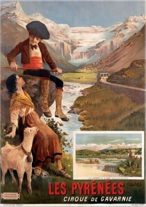 Travel Poster les Pyrenees