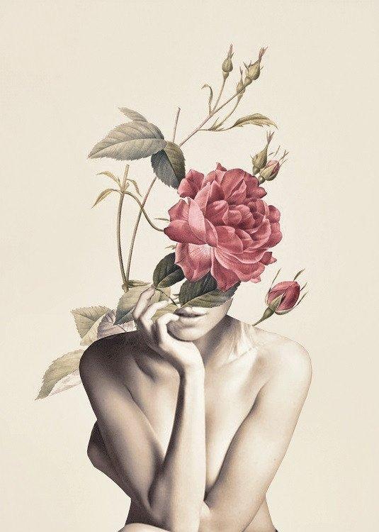 vntage flower poster