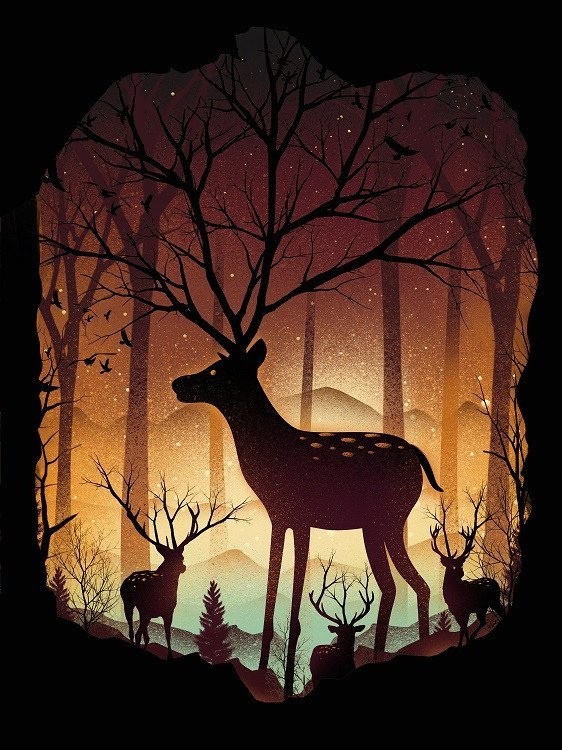 dan fajardo deer poster