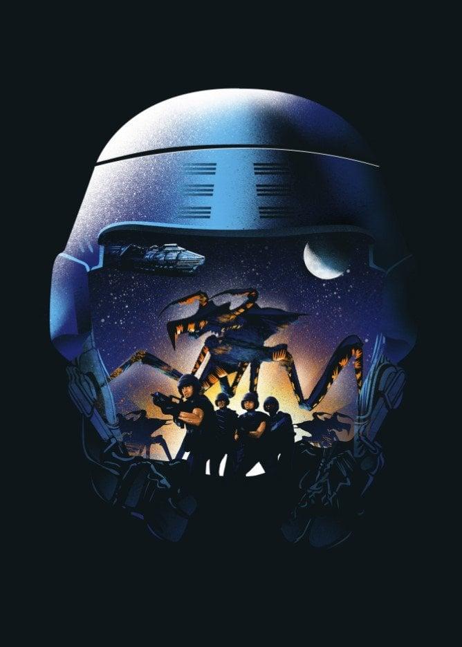 starship troopers fighting alien by dan fajardo