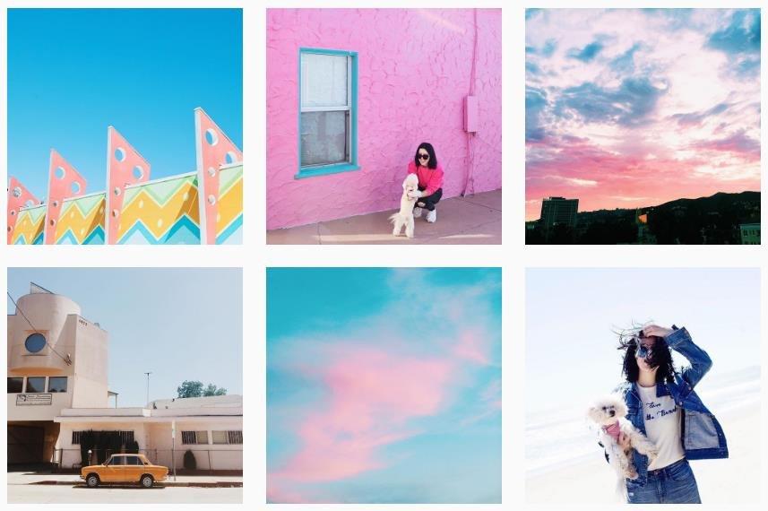 kimgenevieve colorful instagram account