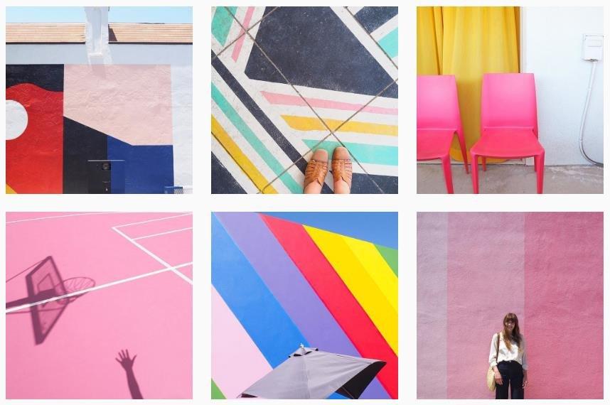 clarenicolson colorful instagram profile