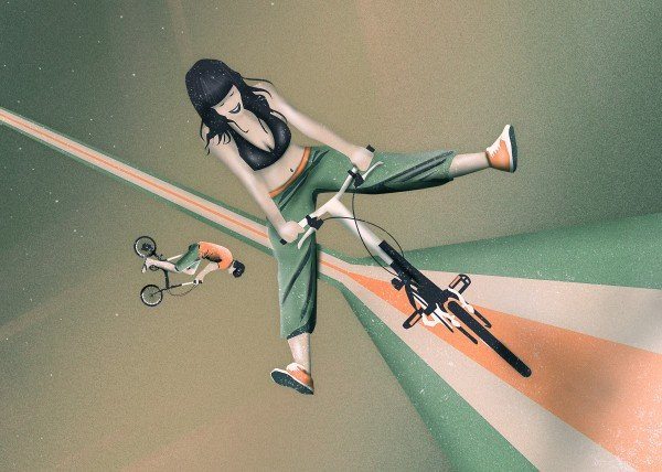 girl-biker-surreal-and-dreamy-vector-art-by-romina-lutz
