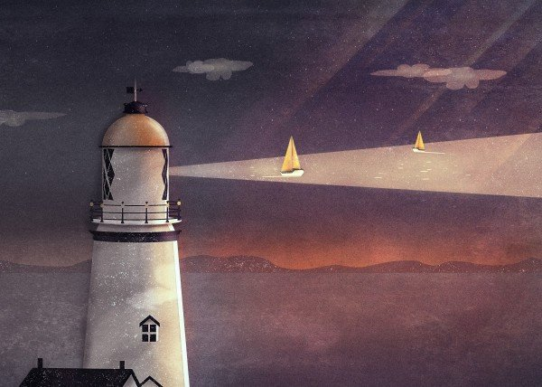 surreal-and-dreamy-vector-art-by-romina-lutz-lighthouse-illustration