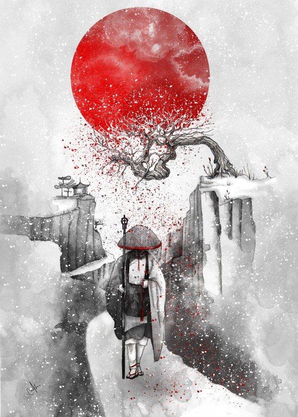 winter-time-season-snow-art-design-illustration-japanese-samurai
