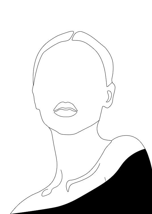 minimal poster woman