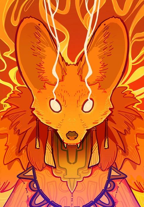 cosmic fox illustration