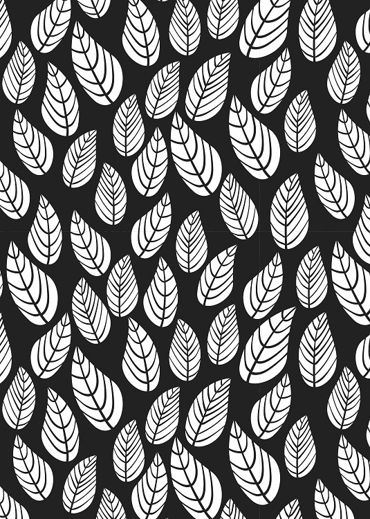 leaves minimal poster