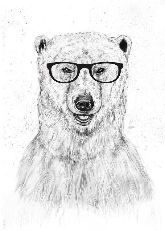 bear bw poster