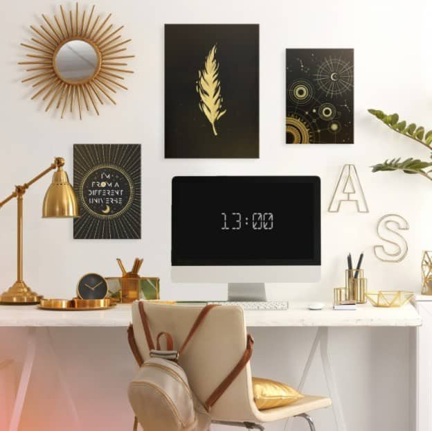 home office wall decor 3 pieces