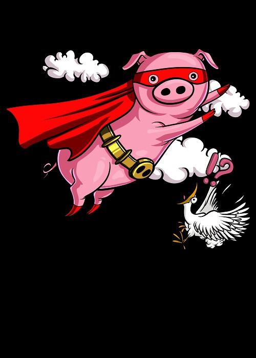 flying pig superhero