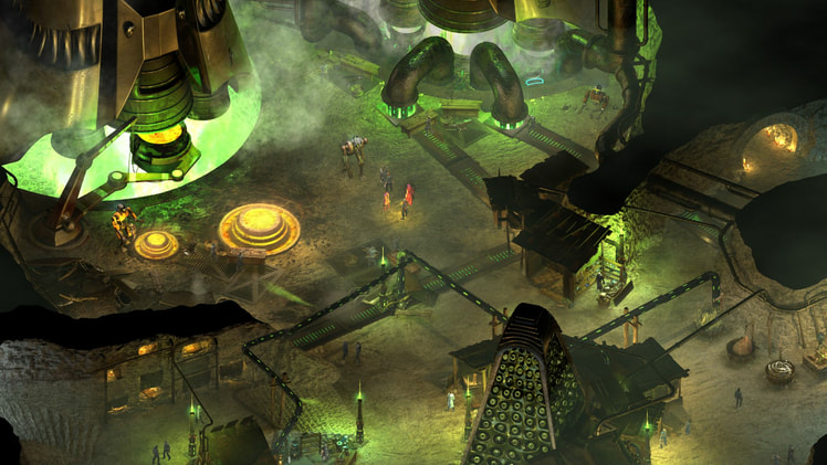 Screen from one of the levels from Tides of Numenera game
