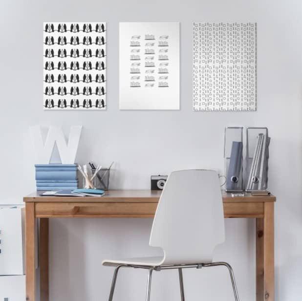 three pictures arranged symmetrically
