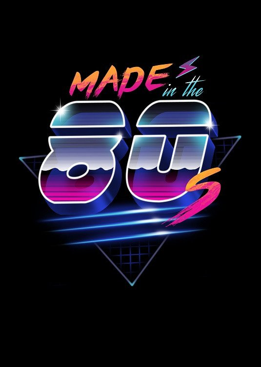 made in the 80s illustration