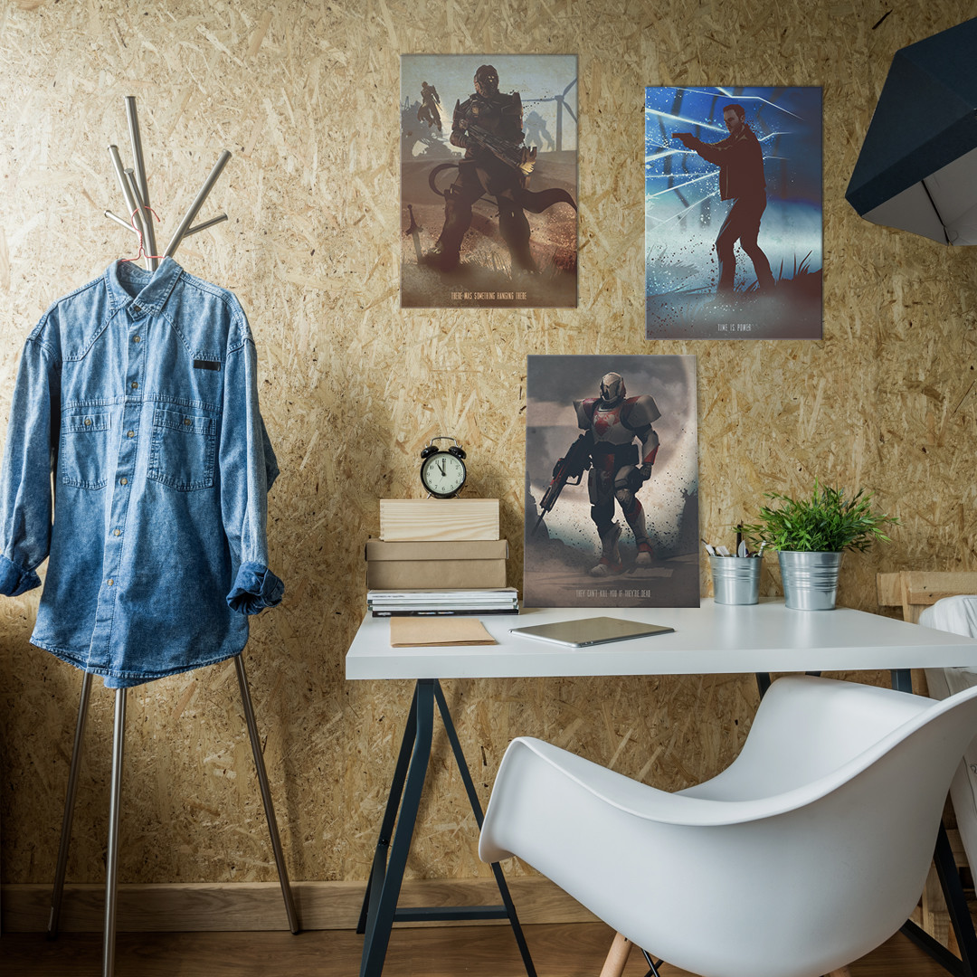 Gaming Characters poster showcased in the room