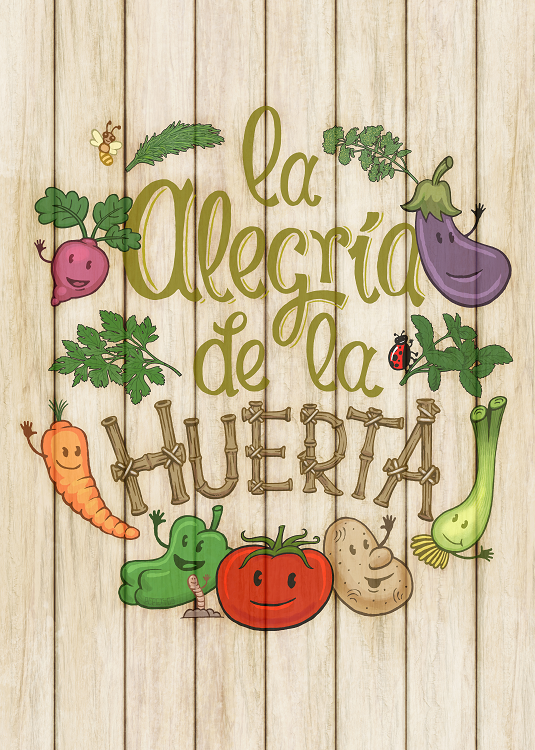 typography vegetables