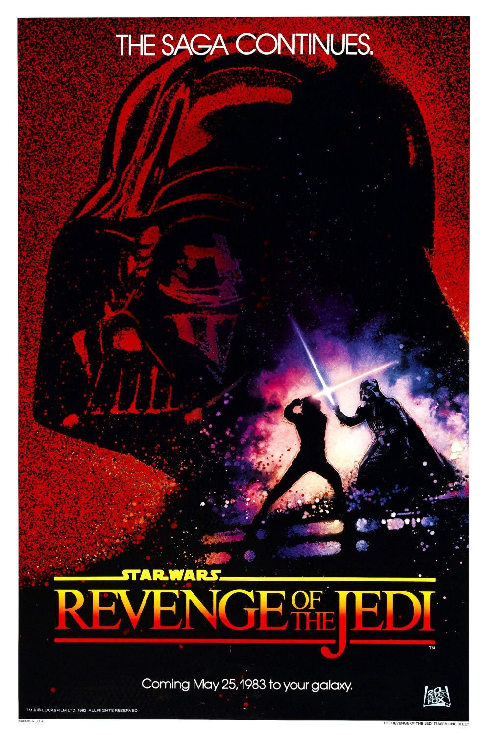 Red revenge of the jedi poster