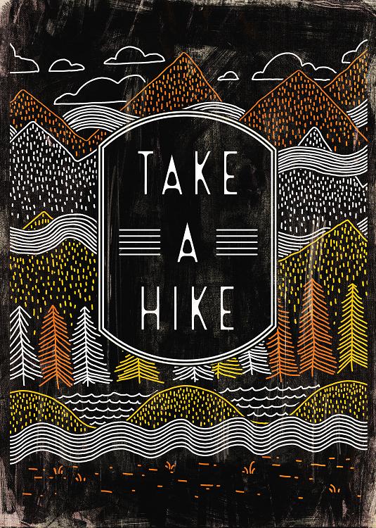 take a hike typo design