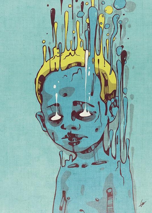 blue boy illustration