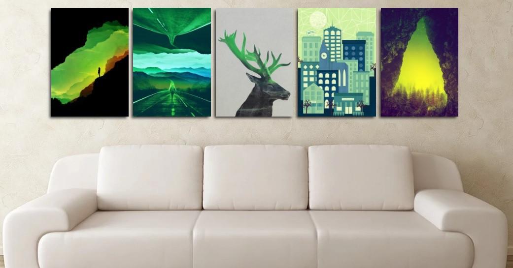 color-palette-green-interior-design-prints-on-metal-wall-art