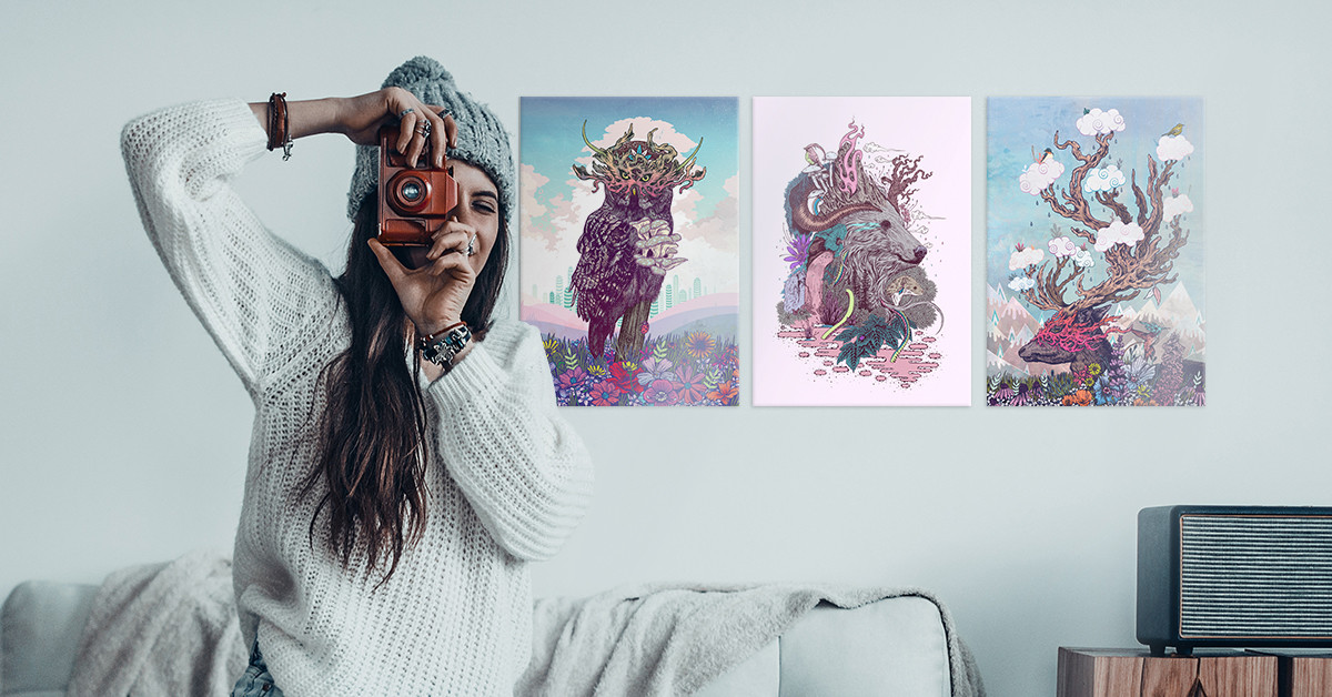 cool metal posters for boho chic girls