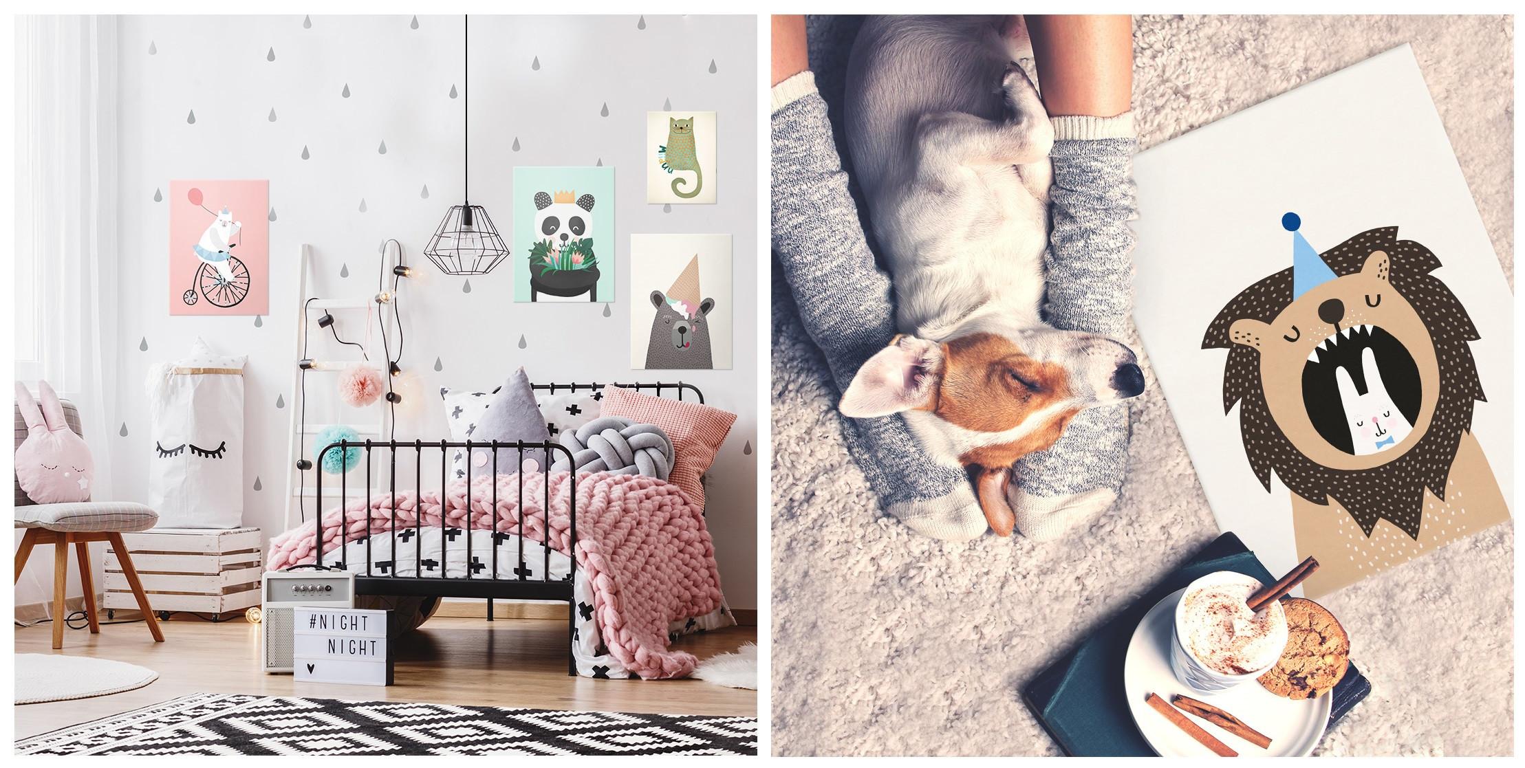 cute animal illustrations printed on metal for animal lovers