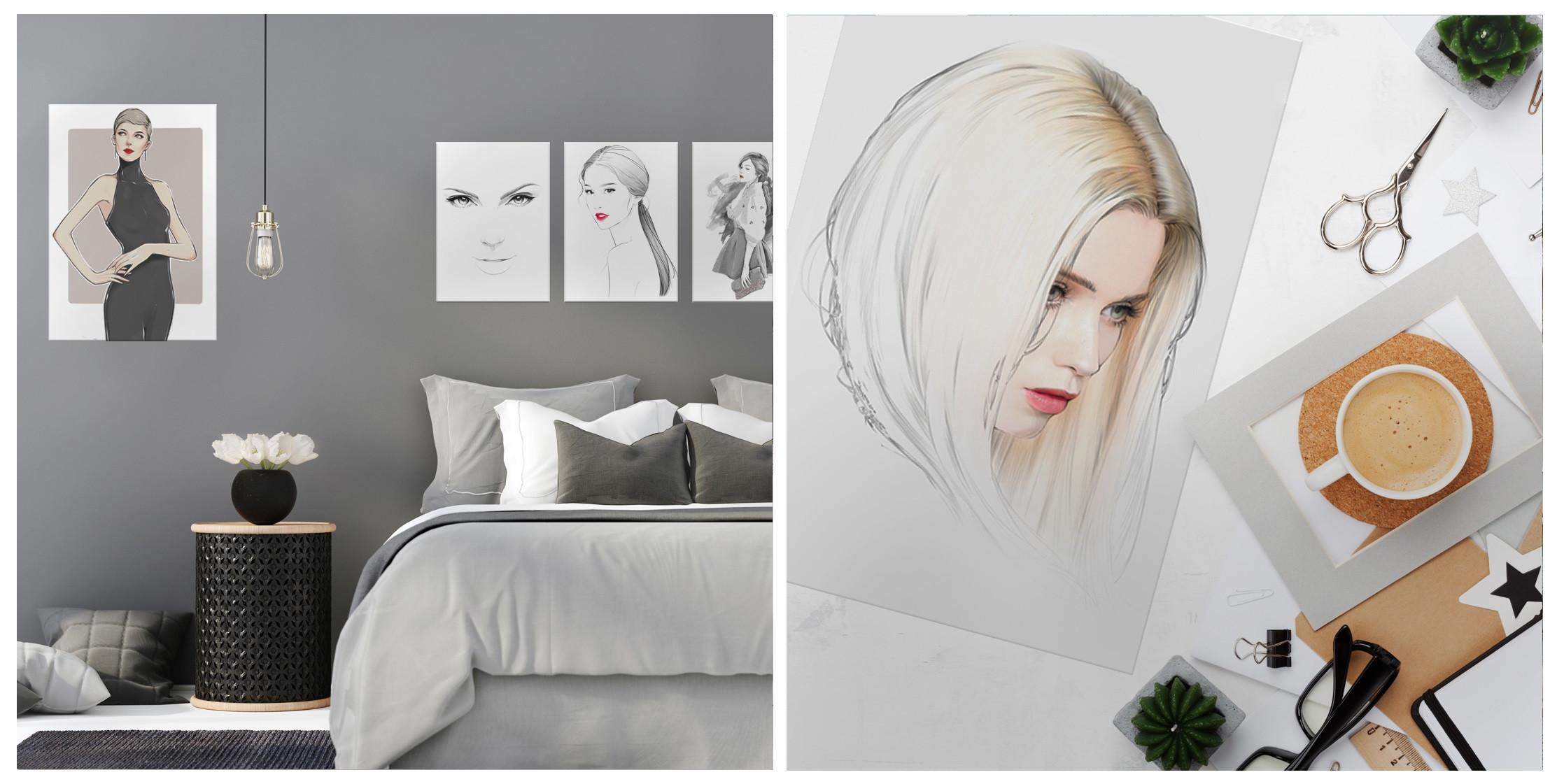 fashion prints on metal gift idea for women displate