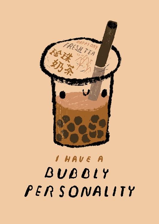 funny drink illustration
