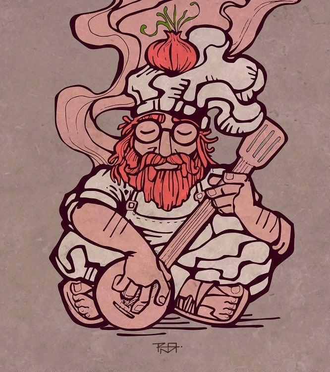 hippie illustration