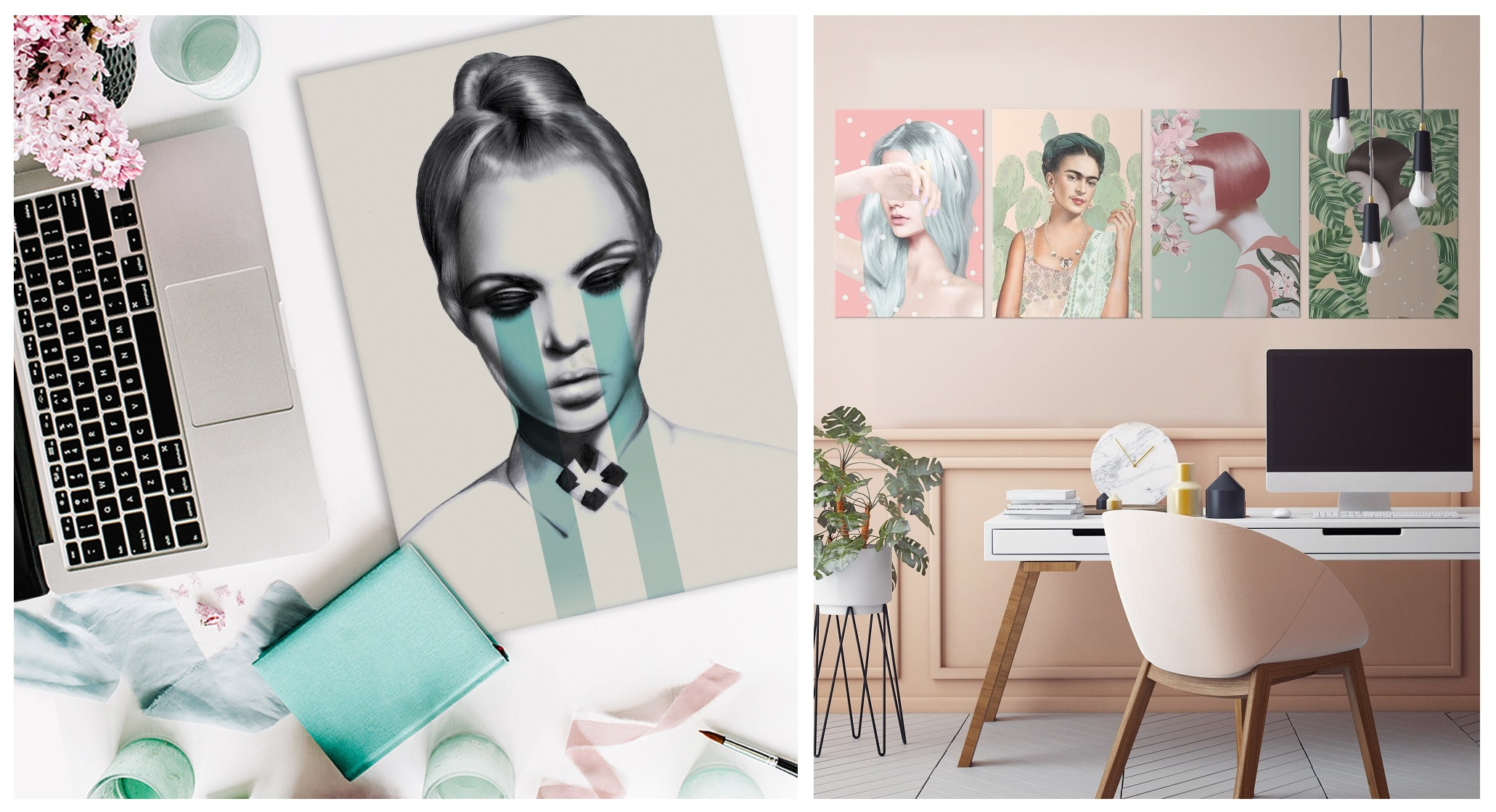 home decor gift idea for fashion lover metal poster