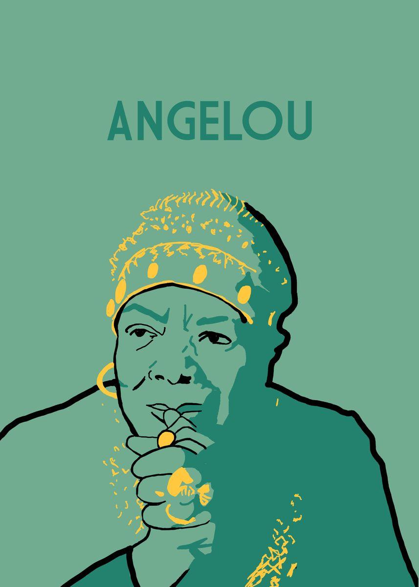 Metal poster of Maya Angelou