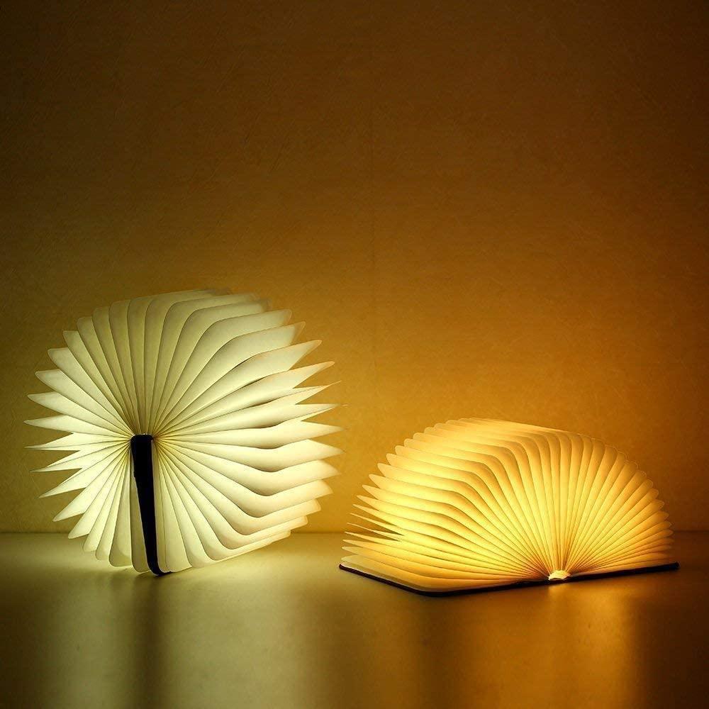 Book shaped lamp