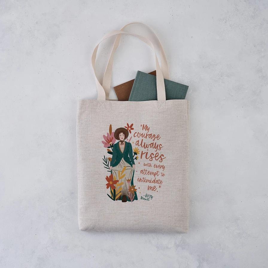 Jane Austen white tote bag