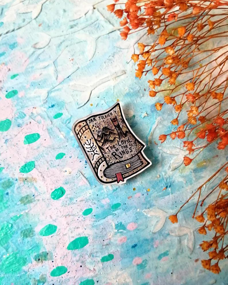 J.R.R. Tolkien enamel pin brooch