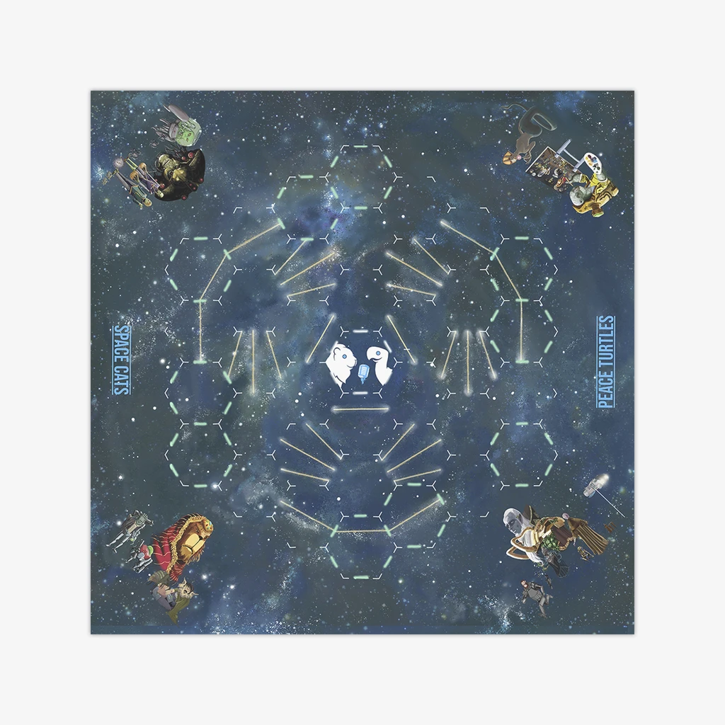 Space Cats Peace Turtles Wargaming Mat