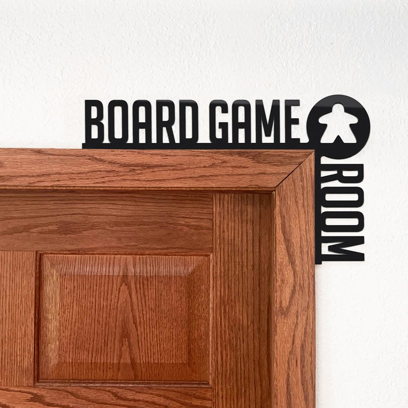 Board game room sign
