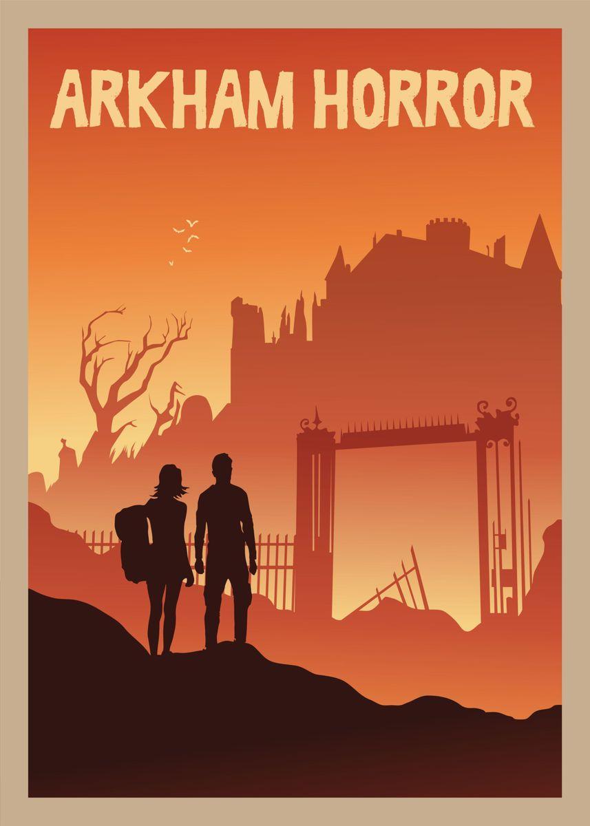 Arkham Horror metal poster