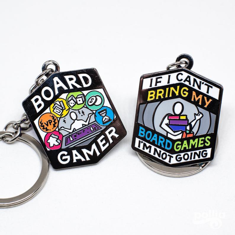 Board gamer keychain