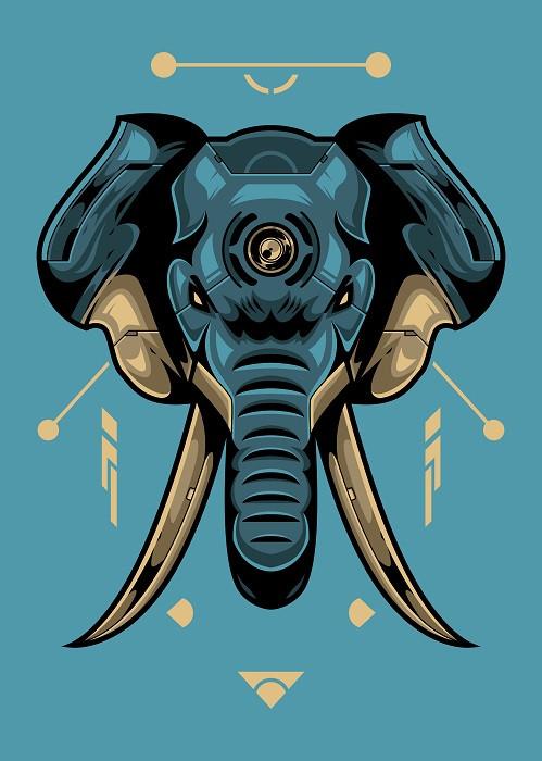 linear-blue-elephant