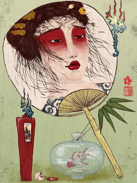 luna kirsche illustration